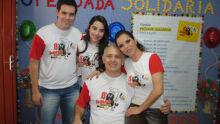 Primeira dama, Mere Kayatt e o prefeito Flávio Kayatt durante a Feijoada Solidária.    Fotos: Edi Moreno